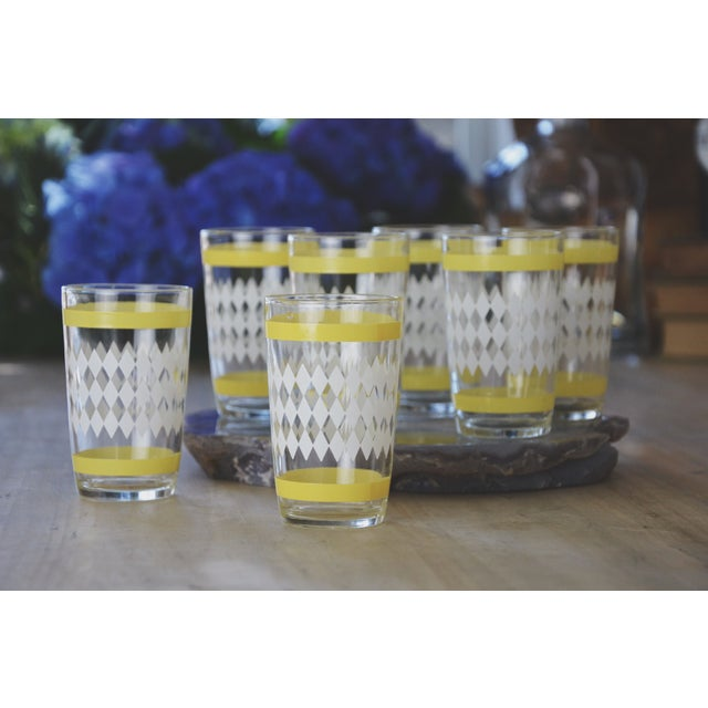 Vintage Harlequin Juice Glasses - Set of 6 - Image 3 of 7