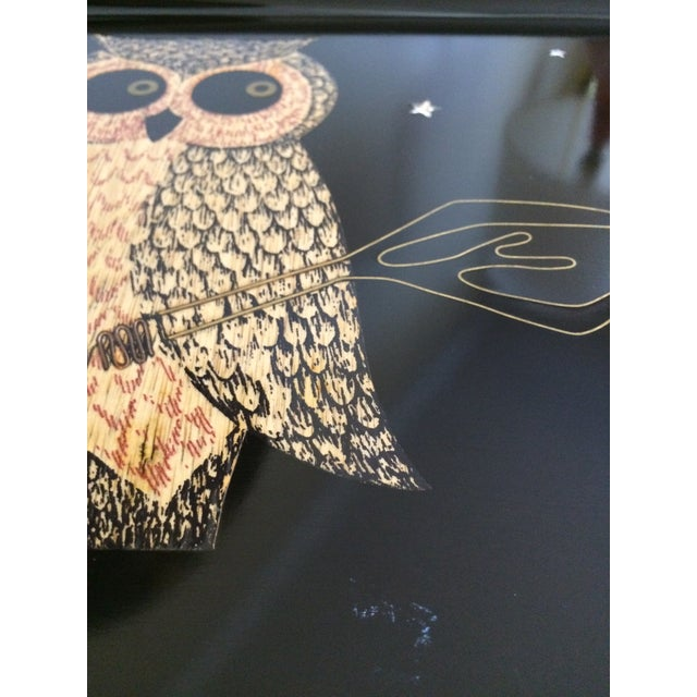 Mid-Century Owl Couroc Tray - Image 4 of 7