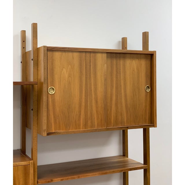 Wood Mid Century Vintage Wall Unit For Sale - Image 7 of 13
