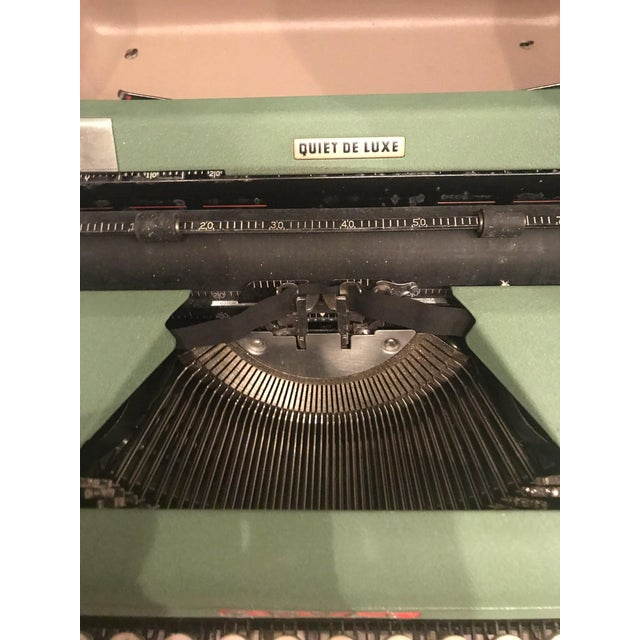 Mid-Century Modern Green Royal Typewriter & Case - Image 3 of 5