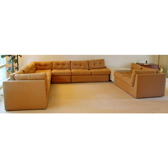 Textile Contemporary Modern Vladimir Kagan for Preview 5 Pc L Shape Sectional Sofa 1980s For Sale - Image 7 of 9