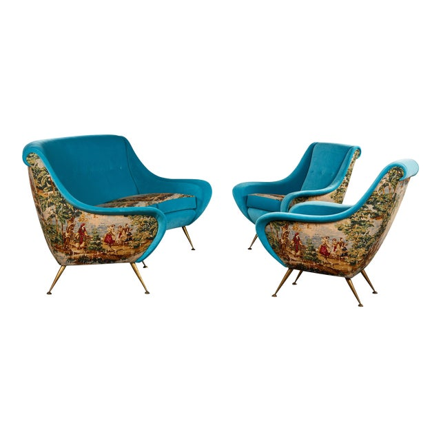 Fabulous Italian Suite Of A Sofa And Two Armchairs Caraccident5 Cool Chair Designs And Ideas Caraccident5Info