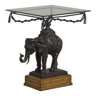 A Maitland Smith designed Elephant Side Table 1970s For Sale