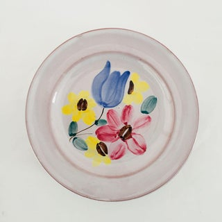 Mid-Century Hand Painted Floral Plates - Set of 8 Preview