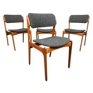 "Mid Century Modern Erik Buch ""Model 49"" Teak Chairs- Set of 4 For Sale"