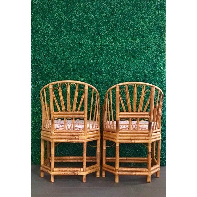 Brighton Pavilion 1980s Vintage Brighton Bamboo ChairsA Pair For Sale - Image 4 of 13