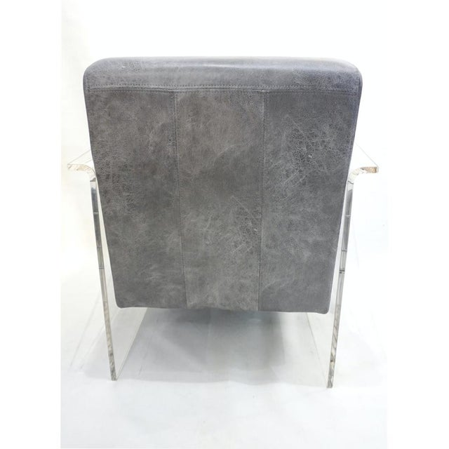 Metal Bespoke Modernist Lucite Acrylic Lounge Armchair - in Showroom For Sale - Image 7 of 12