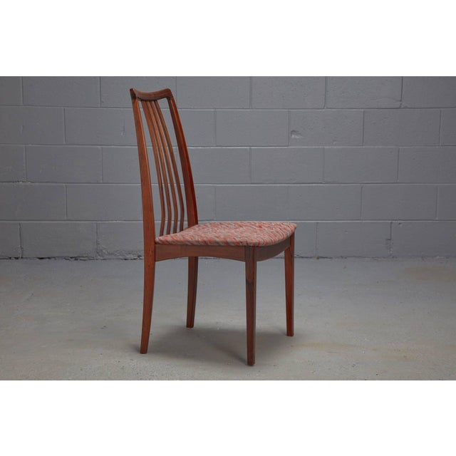 Mid-Century Modern Danish Rosewood High Back Dining Chairs- Set of 4 For Sale - Image 3 of 8