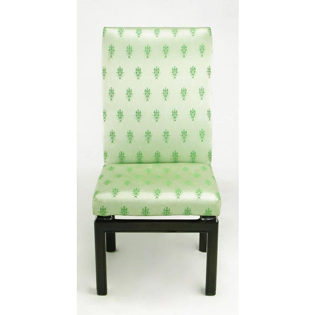 Baker Furniture Company Eight Baker Far East Collection Floating Dining Chairs For Sale - Image 4 of 9