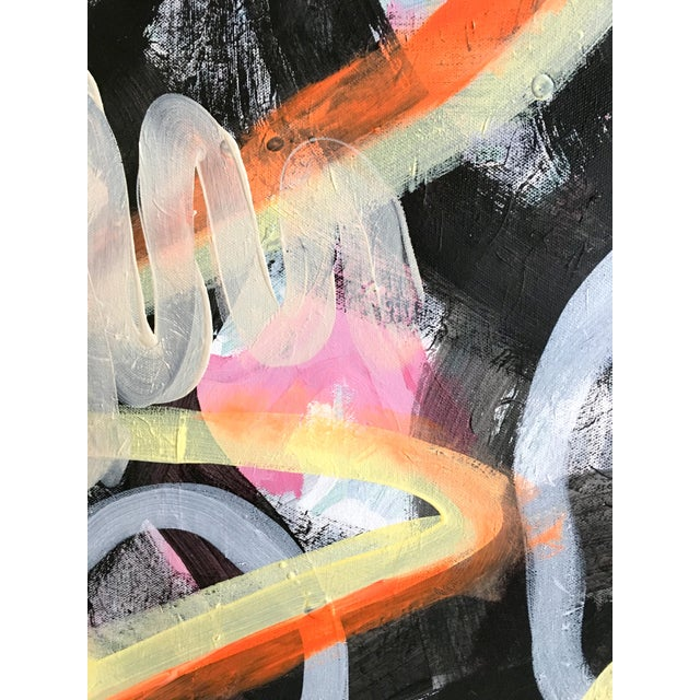 """Contemporary """"Night Dreams"""" Jessalin Beutler Original Painting For Sale - Image 3 of 6"""