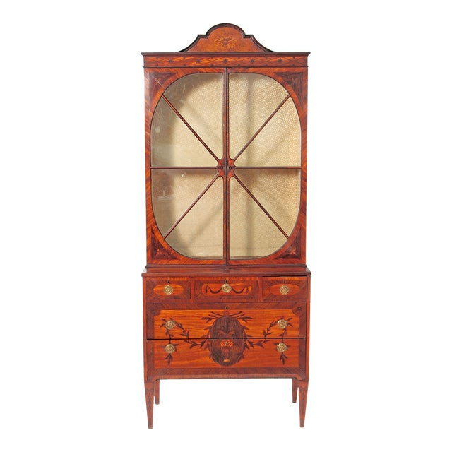 George III Satinwood and Inlaid Bookcase Attributed to Gillows For Sale