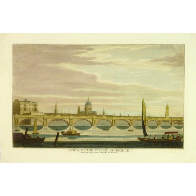 Waterloo Bridge Print, London Engraving For Sale