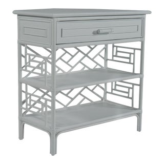 Chippendale End Table - Light Gray For Sale
