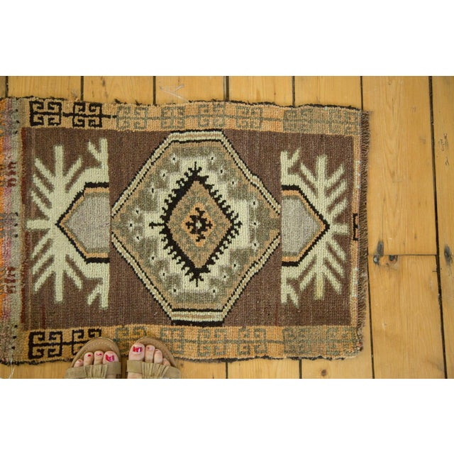 "Vintage Turkish Oushak Mat - 1'7"" x 2'3"" - Image 2 of 4"