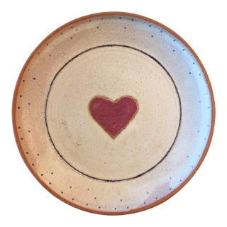 Heart Accented Terra Cotta Serving Dish