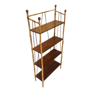 19th Century English Bamboo Bookstand / Étagère For Sale