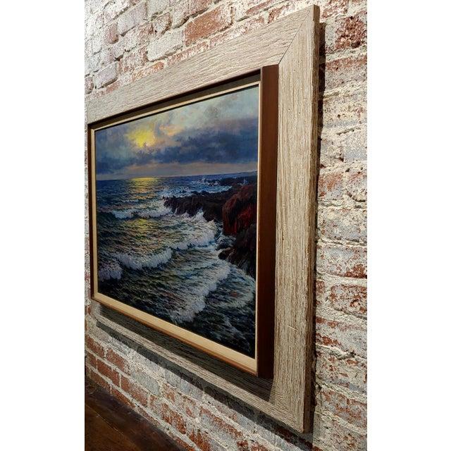 "Vartan Mahokian ""Seascape Magic Sunset"" Oil Painting C.1920s For Sale - Image 9 of 11"