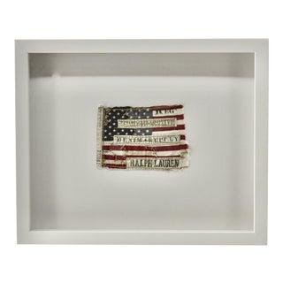 Ralph Lauren Flag Vintage Framed For Sale