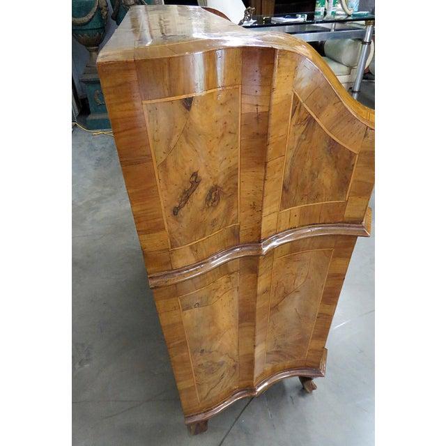 Vintage Olivewood Secretary Desk For Sale - Image 9 of 11