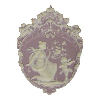 Lavender Jasperware Plaque For Sale
