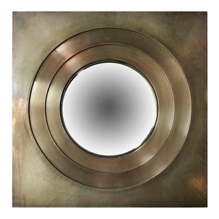 Adesso Imports Brass Convex Mirror For Sale