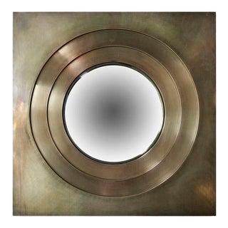 Brass Convex Mirror For Sale