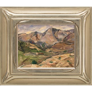 1922 Mountain Landscape, Colorado Original Oil Painting by Nellie Knopf (1875-1962) For Sale
