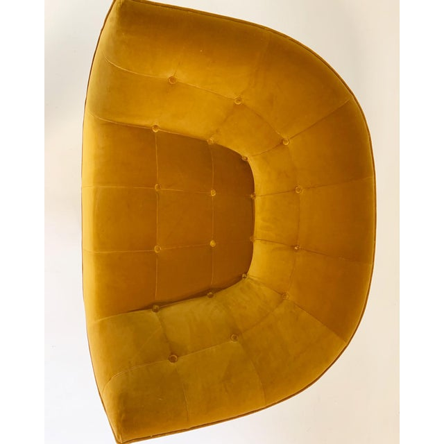 Adrian Pearsall Swivel Lounge Chair in Loro Piana Velvet For Sale In Saint Louis - Image 6 of 11
