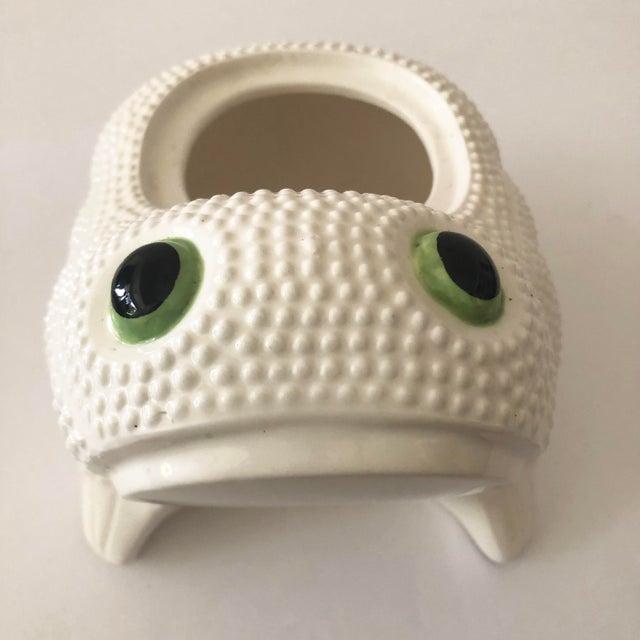 Vintage Ceramic Frog Planter For Sale In Tampa - Image 6 of 11