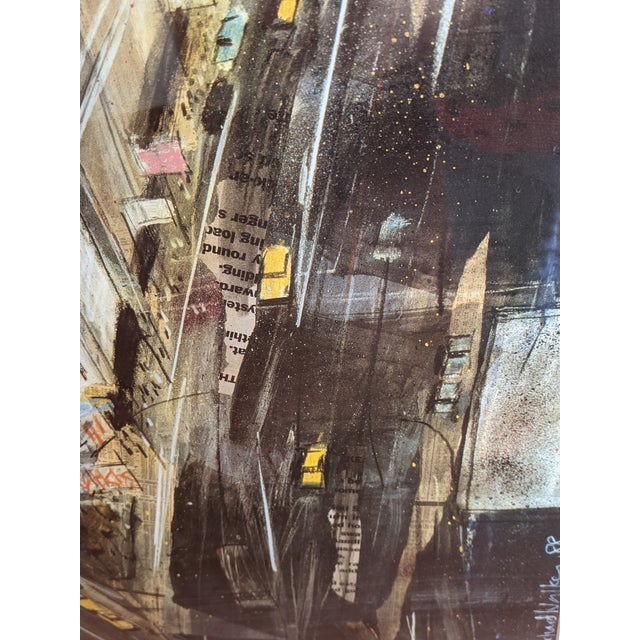"""1980s 1980s """"Times Square"""" Cityscape Lithograph, Framed For Sale - Image 5 of 12"""