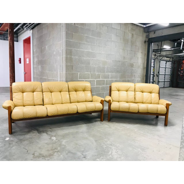 1970s Vintage Ekornes Stressless Montana Solid Teak Loveseat and Sofa - 2 Pieces For Sale - Image 13 of 13