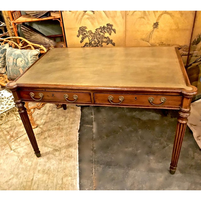 1810s English Regency Partners Writing Table For Sale - Image 13 of 13