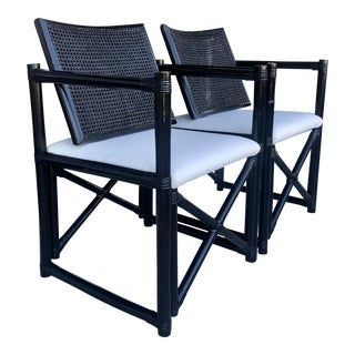 Bamboo & Caning Director's Chair - a Pair For Sale