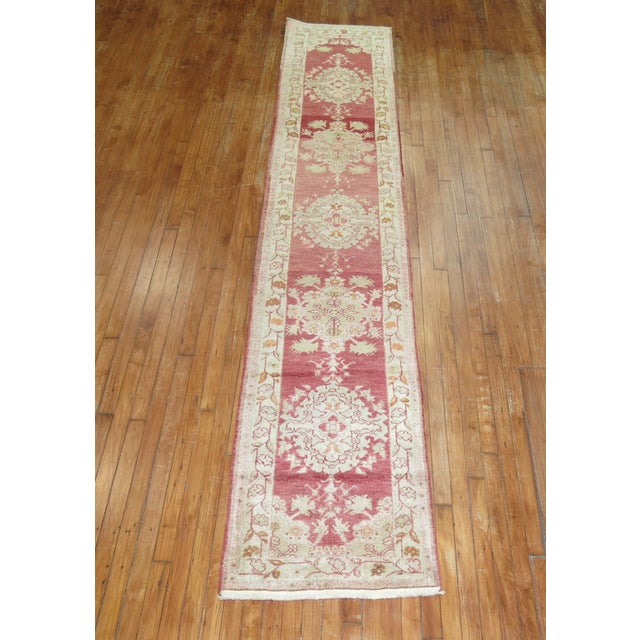 A narrow and long finely woven turkish sivas runner from the 2nd part of the 20th century. Hand-woven, one of a kind.