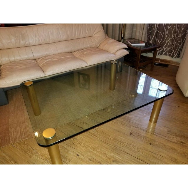 Brass and Glass Coffee Table by the Pace Collection Leon Rosen For Sale - Image 11 of 13