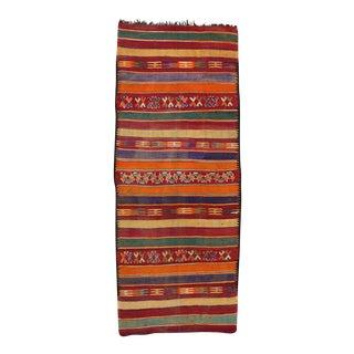 Vintage Berber Moroccan Kilim Gallery Rug - 6'7 X 16'3 For Sale