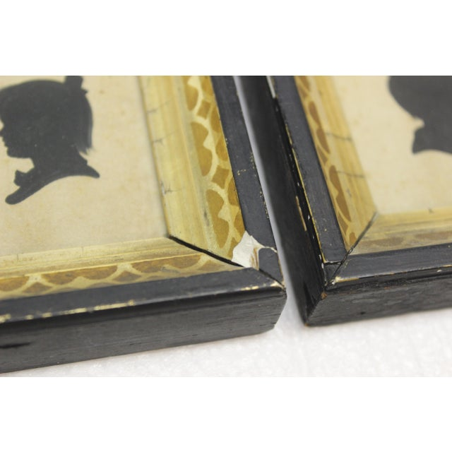 Black Antique Silhouette Miniatures - a Pair For Sale - Image 8 of 9