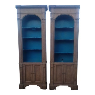 Baker Furniture French Style Cerused Bookcases - a Pair For Sale