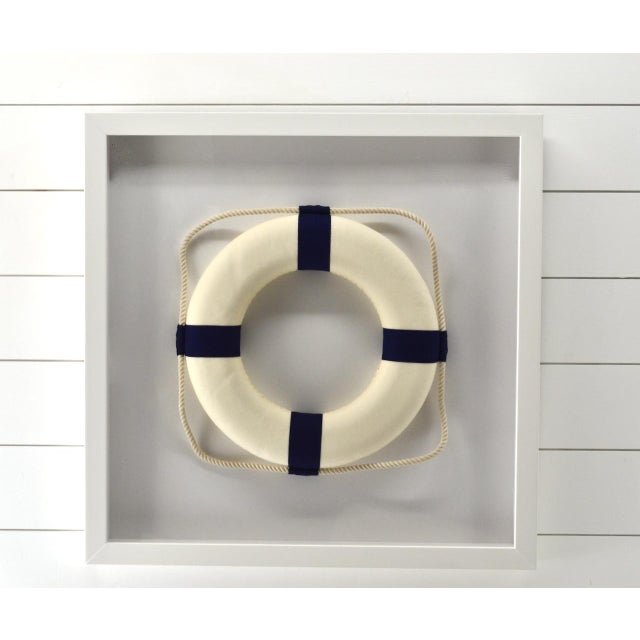 Framed Blue & White Life Ring For Sale - Image 4 of 4