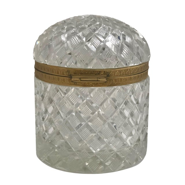 French 19th Century Large French Baccarat Crystal Box For Sale - Image 3 of 6