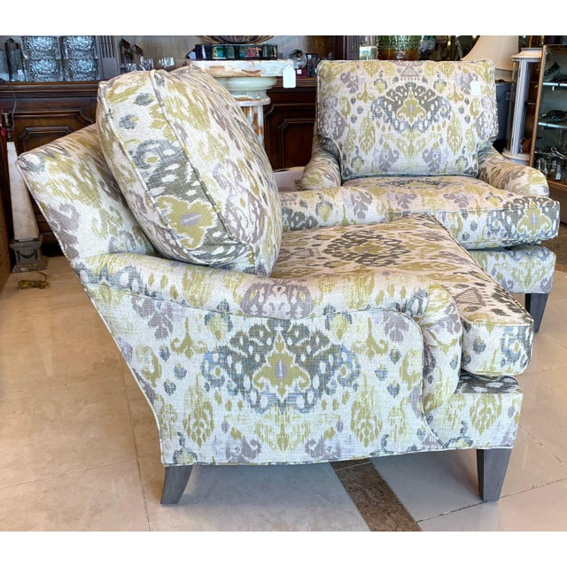 Lee Industries Lounge Chairs- a Pair For Sale - Image 9 of 13