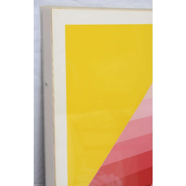 1970s Gorgeous Serigraph by Herbert Bayer, Austria, 1973 For Sale - Image 5 of 9