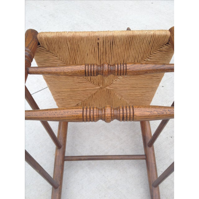 Vintage Tall Ladder Dining Chairs - Set of 4 - Image 5 of 10