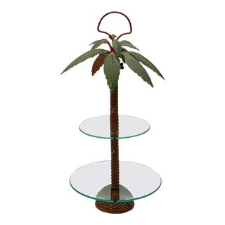 French Palm Tree Centerpiece or Cake Stand For Sale