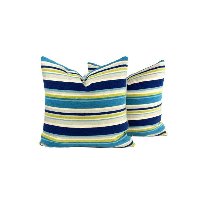 Metal Italian Silk Velvet Pillows - a Pair For Sale - Image 7 of 7
