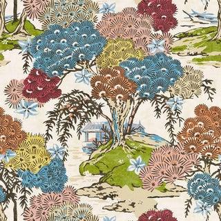 Scalamandre Sea of Trees Fabric in Sunrise Sample For Sale
