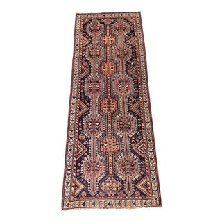 "Vintage Persian Shiraz Knot Runner Rug - 3'2""x9' For Sale"