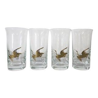 Vintage Gold Bird Shot Glasses - Set of 4 For Sale