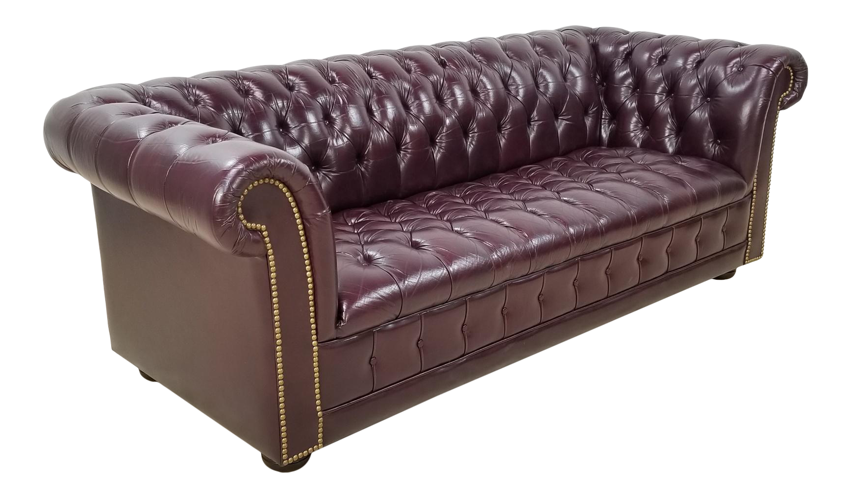 - Chesterfield Tufted Leather Sofa High End Executive Chairish