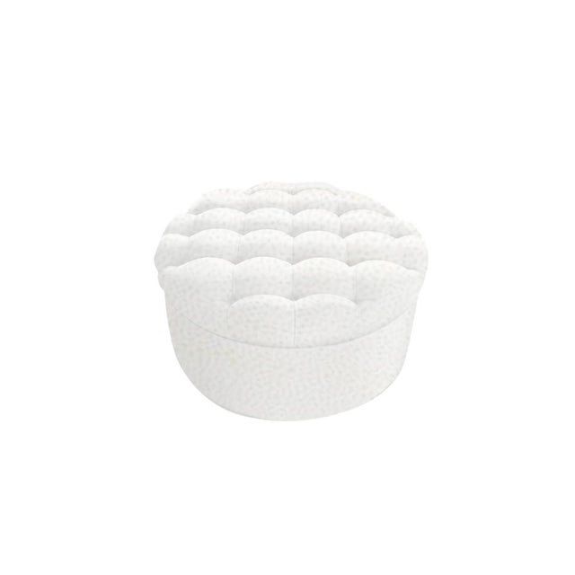"""Slant LA Custom to Order """"The White Series"""" Collection Ottoman For Sale - Image 4 of 5"""